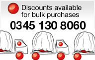 for bulk purchases call 0845 130 8060